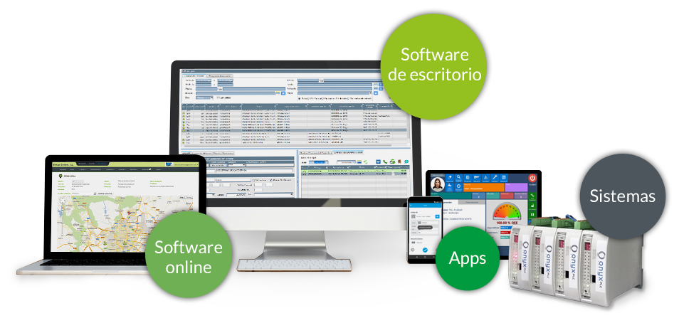 Software de escritorio, software online, apps y sistemas